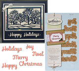 HOLIDAY SENTIMENTS Metal Die Set by SPELLBINDERS S2-118 - Inspiration Station Scrapbook Store & Retreat