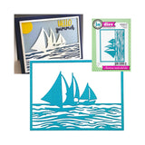 Sailboat Frame Die Cut by Impression Obsession Dies DIE696-YY - Inspiration Station Scrapbook Store & Retreat