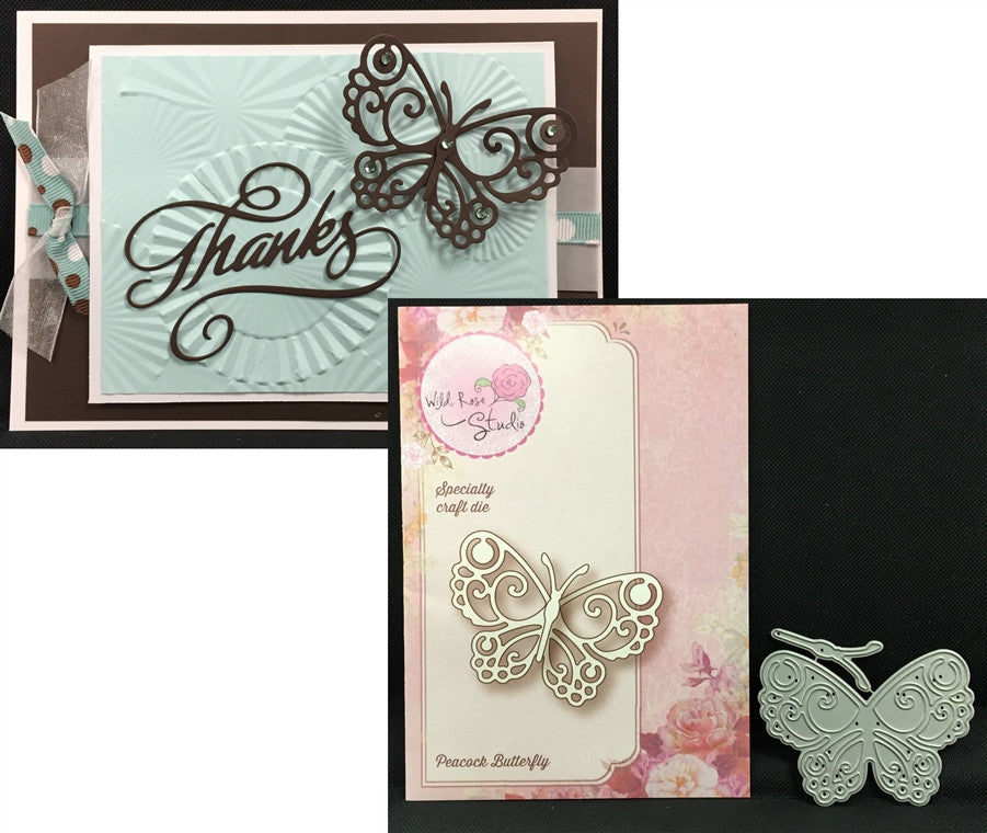 PEACOCK BUTTERFLY die by WILD ROSE STUDIOS SD017 - Inspiration Station Scrapbook Store & Retreat