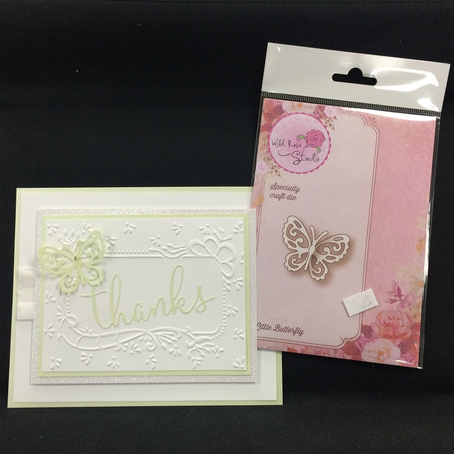 LITTLE BUTTERFLY die by WILD ROSE STUDIOS SD019 - Inspiration Station Scrapbook Store & Retreat