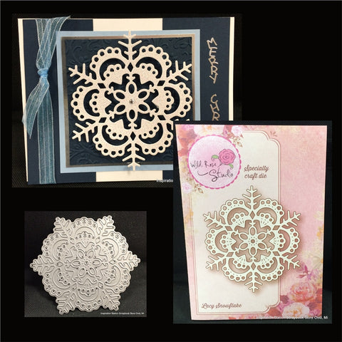 LACY SNOWFLAKE by WILD ROSE Craft Die SD024 - Inspiration Station Scrapbook Store & Retreat