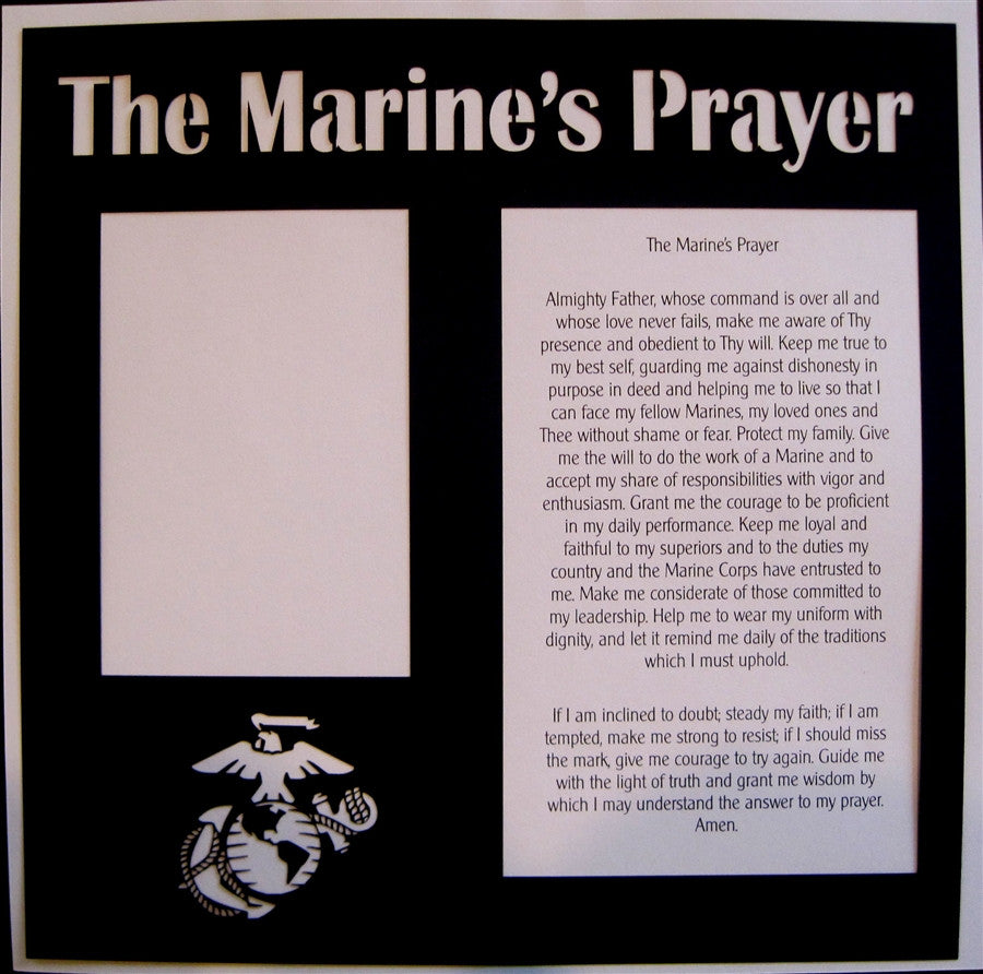 MILITARY -  The Marine's Prayer - 12x12 Laser Die Cut Scrapbook Page - Inspiration Station Scrapbook Store & Retreat