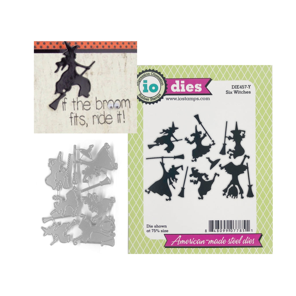 Halloween Six Witches Metal Die Cut set by Impression Obsession Cutting Dies DIE457-Y - Inspiration Station Scrapbook Store & Retreat
