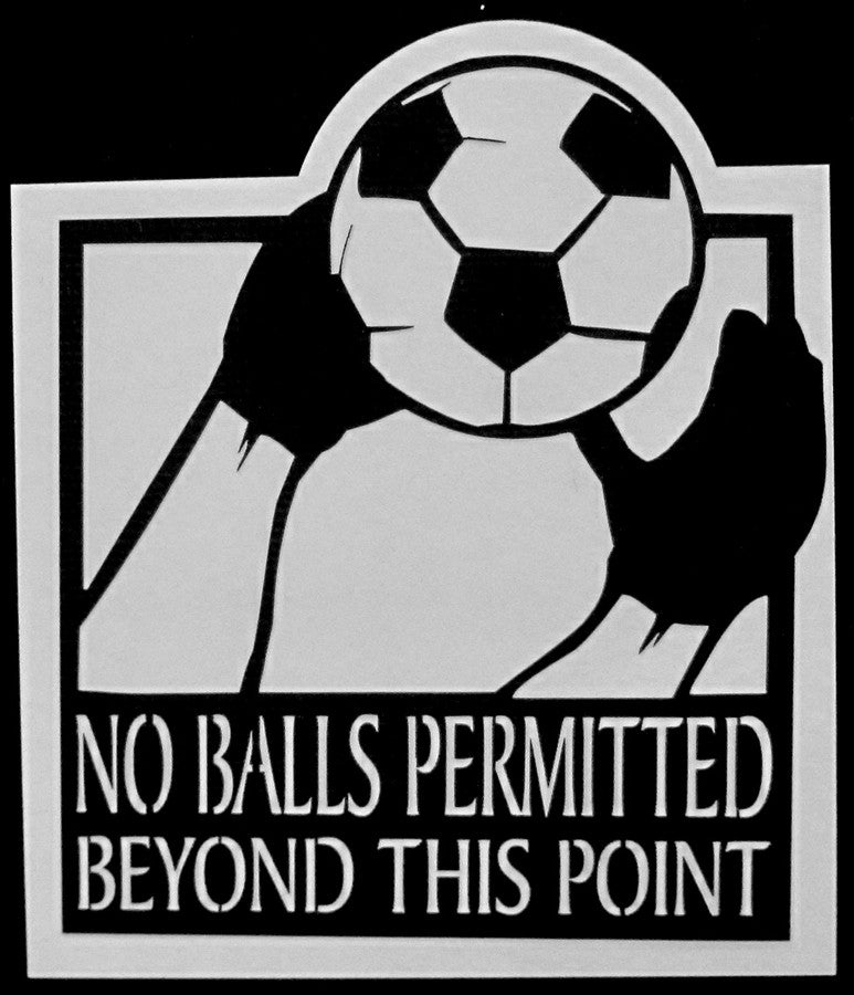 Soccer- Balls Beyond This Point Scrapbook Laser Cut Title - Inspiration Station Scrapbook Store & Retreat