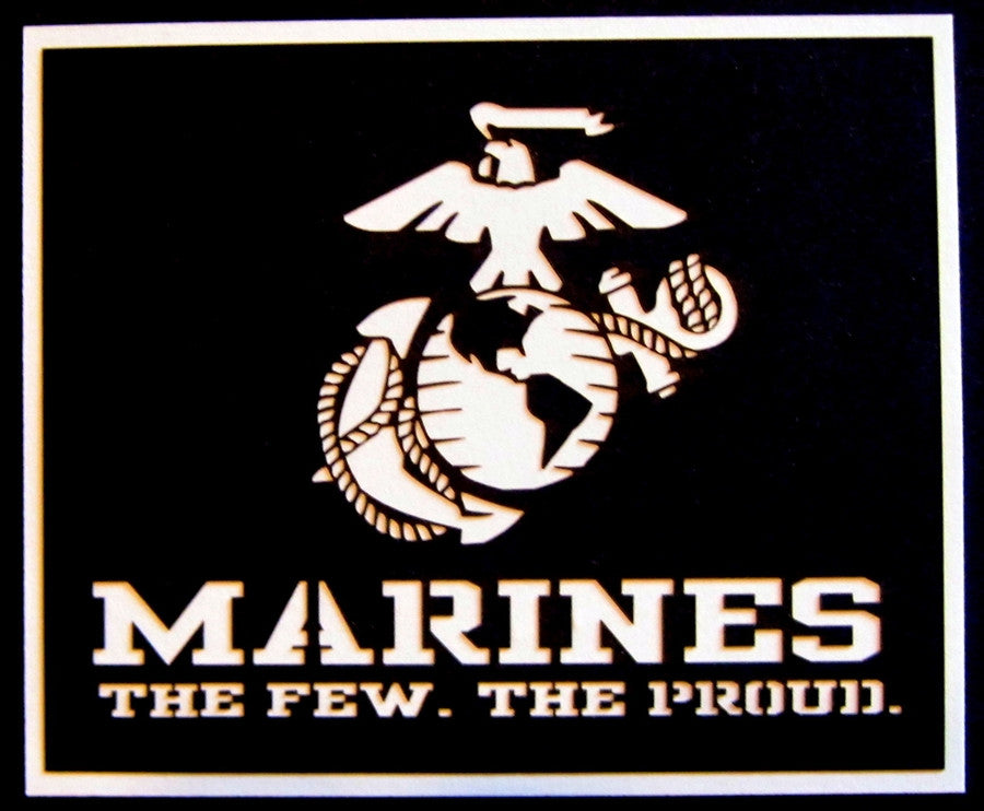 MILITARY - Marines The Few The Proud Scrapbook Laser Cut Title - Inspiration Station Scrapbook Store & Retreat