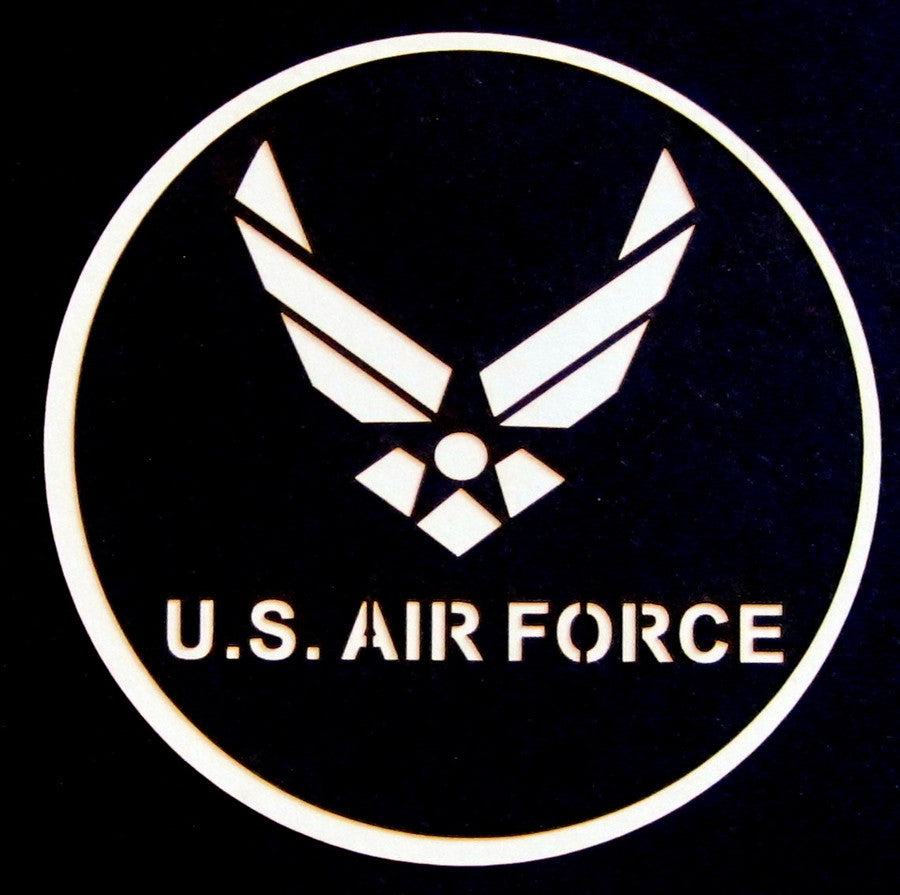 MILITARY - US Air Force Circle Scrapbook Laser Cut Title - Inspiration Station Scrapbook Store & Retreat