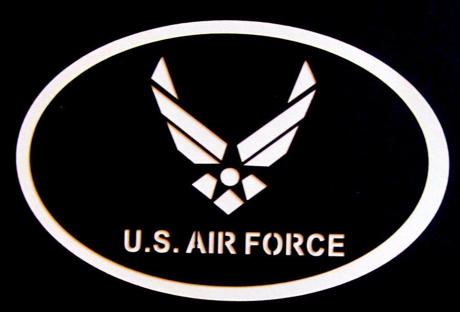 MILITARY - US Air Force Oval Scrapbook Laser Cut Title - Inspiration Station Scrapbook Store & Retreat