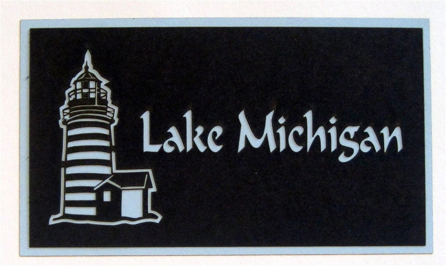 Lake Michigan With Light House Scrapbook Laser Cut Title - Inspiration Station Scrapbook Store & Retreat