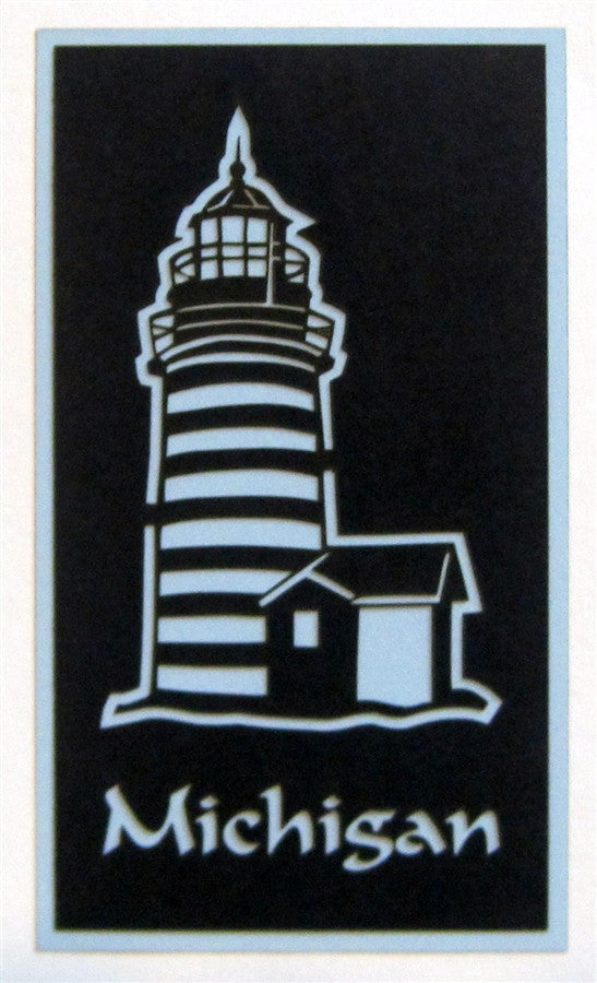 Michigan with Light House Scrapbook Laser Cut Title - Inspiration Station Scrapbook Store & Retreat