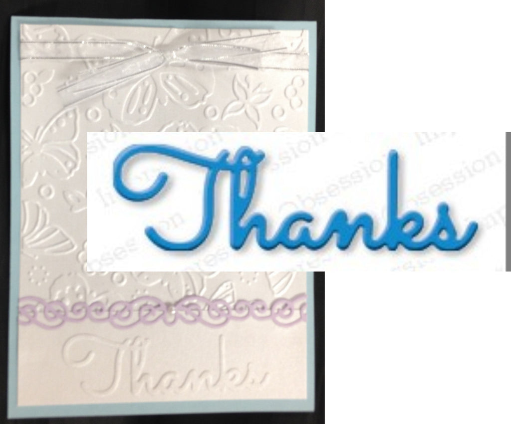 Thanks Word Die by Impression Obsession Dies DIE162-A - Inspiration Station Scrapbook Store & Retreat