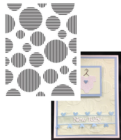 CIRCLES AND STRIPES Limited Edition Embossing Folder by ULTIMATE CRAFTS - Inspiration Station Scrapbook Store & Retreat