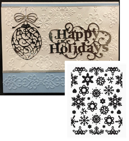 WINTER CHILL by ULTIMATE CRAFTS Limited Edition Embossing Folder - Inspiration Station Scrapbook Store & Retreat