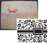 GARDEN RIBBON Limited Edition Embossing Folder by ULTIMATE CRAFTS - Inspiration Station Scrapbook Store & Retreat