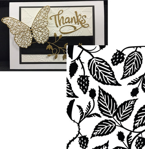 ROSE LEAF by ULTIMATE CRAFTS Limited Edition Embossing Folder ULT157121 - Inspiration Station Scrapbook Store & Retreat
