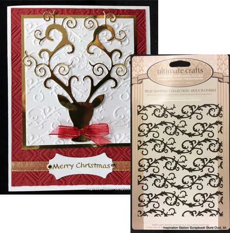 HOLY FLOURISH by ULTIMATE CRAFTS Limited Edition Embossing Folder ULT157181 - Inspiration Station Scrapbook Store & Retreat