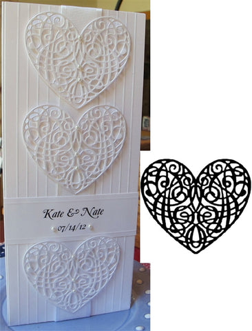 Heart Scroll Die by Serendipity Stamps 001GD - Inspiration Station Scrapbook Store & Retreat