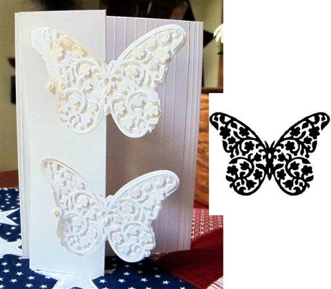 Floral Butterfly Die by Serendipity Stamps 005GD - Inspiration Station Scrapbook Store & Retreat