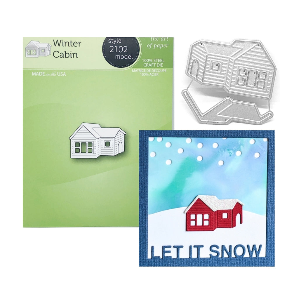 Winter Cabin Metal Die Cut Set by Poppystamps Dies 2102 - Inspiration Station Scrapbook Store & Retreat