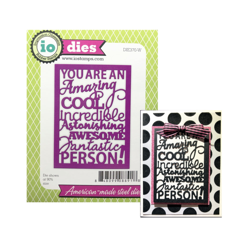 You Are Words Block Metal Die by Impression Obsession dies DIE370-W - Inspiration Station Scrapbook Store & Retreat