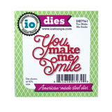 You Make Me Smile Words Die by Impression Obsession Dies DIE774-I - Inspiration Station Scrapbook Store & Retreat