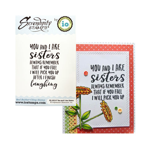 Sisters Humor Rubber Stamp by Impression Obsession Cling Stamps SS-1413-F