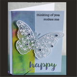 Inspiration Station Leilani Butterfly metal die by Memory Box dies 99437