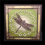 Felicity Doily with Angel Wing solid Background die set DL239 by Cheery Lynn Designs