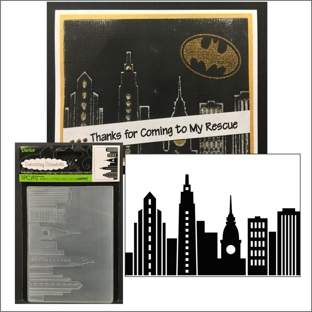 Cityscape Embossing Folder by Darice Embossing Folders 1219-407 - Inspiration Station Scrapbook Store & Retreat