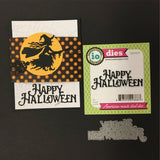 Happy Halloween metal die cut Words Impression Obsession craft dies DIE326-F