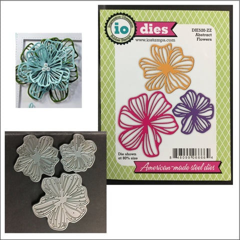 Abstract Flowers Metal Die Cut Set by Impression Obsession Dies DIE520-ZZ - Inspiration Station Scrapbook Store & Retreat