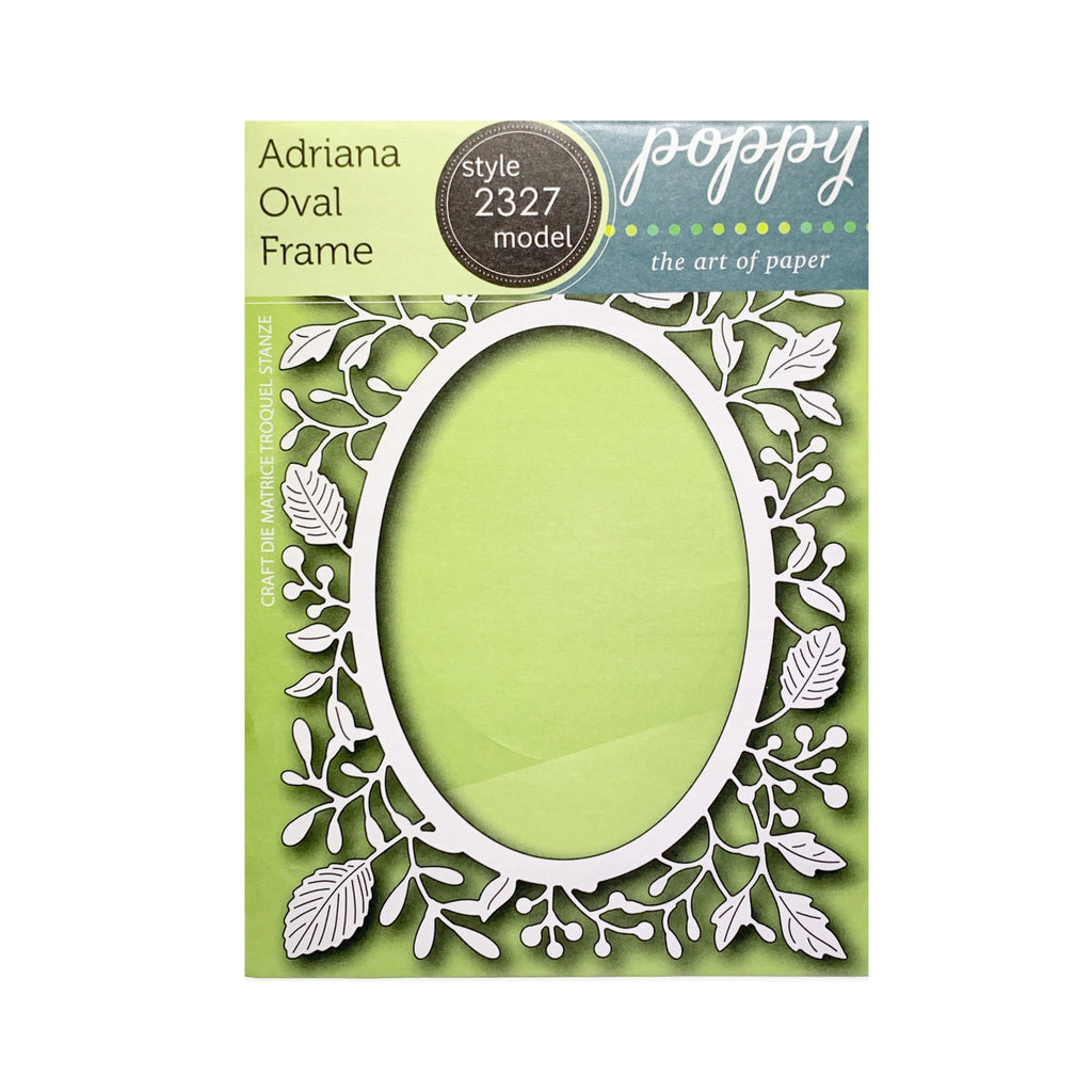 Adriana Oval Frame Metal Die Cut by Poppystamps Cutting Dies 2327 - Inspiration Station Scrapbook Store & Retreat