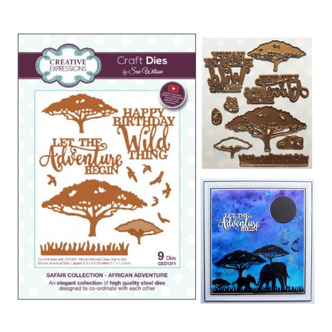 African Adventure Safari Collection Die Cut Set by Sue Wilson for Creative Expressions CED1311 - Inspiration Station Scrapbook Store & Retreat