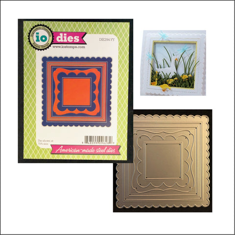 All In One Frame Squares 2 Metal Die by Impression Obsession Dies DIE294-YY - Inspiration Station Scrapbook Store & Retreat