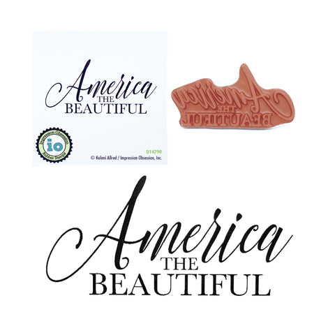 America The Beautiful Stamp by Impression Obsession D14790 - Inspiration Station Scrapbook Store and Retreat