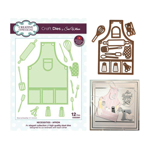 Apron Die Cut Set by Sue Wilson for Creative Expressions Craft Dies CED23001 - Inspiration Station Scrapbook Store & Retreat