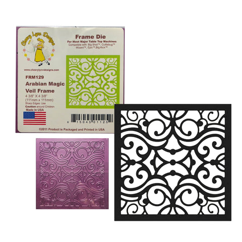 Arabian Magic Veil Frame Metal Die Cut Cheery Lynn Cutting Dies Square FRM129