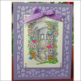 ARABIAN NIGHT RECTANGLE FRAME metal die by Cheery Lynn Designs FRM125
