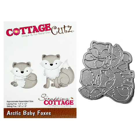 Arctic Baby Foxes metal Die Cut Cottage Cutz Cutting Dies CC-700