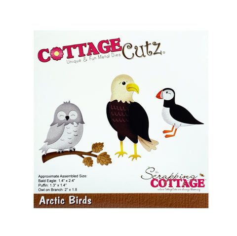 Arctic Birds Metal Die Cut By Cottage Cutz Craft Cutting Dies
