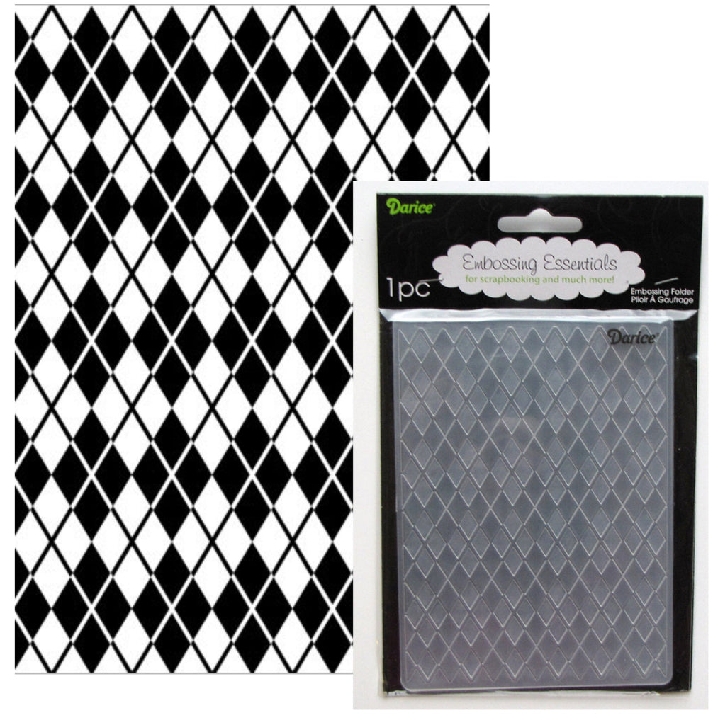 Argyle Embossing Folder 5x7 By Darice Craft Flders 1217-61 - Inspiration Station Scrapbook Store & Retreat