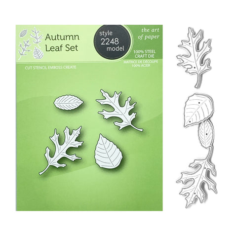 Autumn Leaf Metal Die Cut Set by Poppy Stamps Dies 2248 - Inspiration Station Scrapbook Store & Retreat