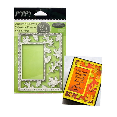 Autumn Leaves Sidekick Frame and Stencil Metal Die Set by Poppystamps Dies 2243 - Inspiration Station Scrapbook Store & Retreat