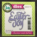 Easter Joy metal words die by Impression Obsession DIE257-D