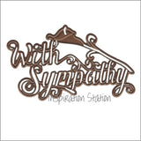 With Sympathy Metal Cutting Die by Creative Expressions CED5416 - Inspiration Station Scrapbook Store & Retreat