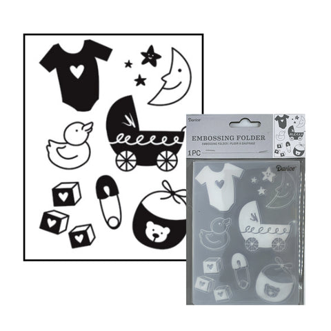 Baby Icons Embossing Folder By Darice Embossing Folders 30041355 - Inspiration Statiion Scrapbook Store & Retreat