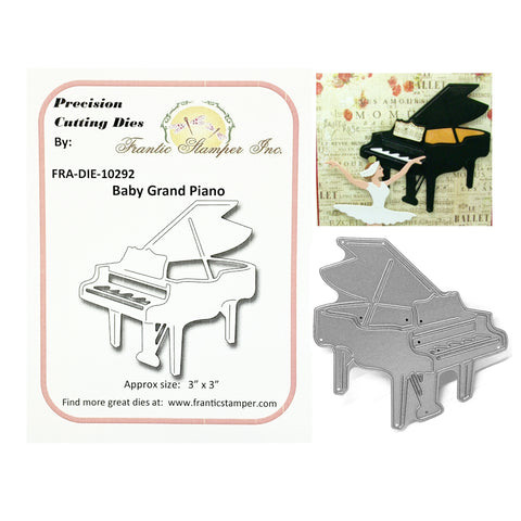 Baby Grand Piano Metal Die by Frantic Stamper Dies FRA-DIE-10292 - Inspiration Station Scrapbook Store & Retreat