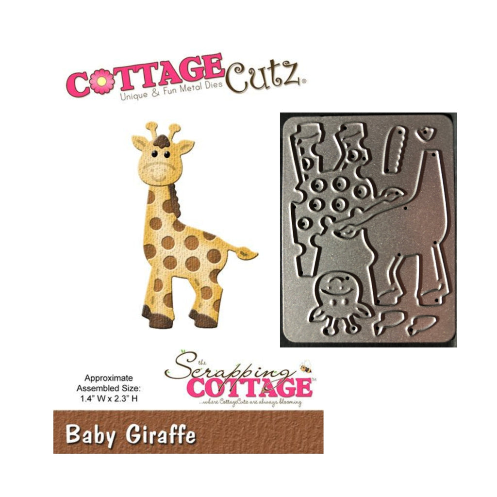 Baby Giraffe Metal Die Cut Set by Cottage Cutz Dies CC-005 - Inspiration Station Scrapbook Store & Retreat