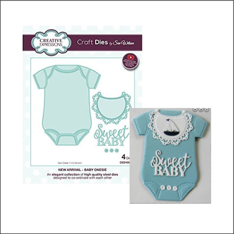 Baby Onesie Die Set by Creative Expressions Dies CED10021 - Inspiration Station Scrapbook Store & Retreat