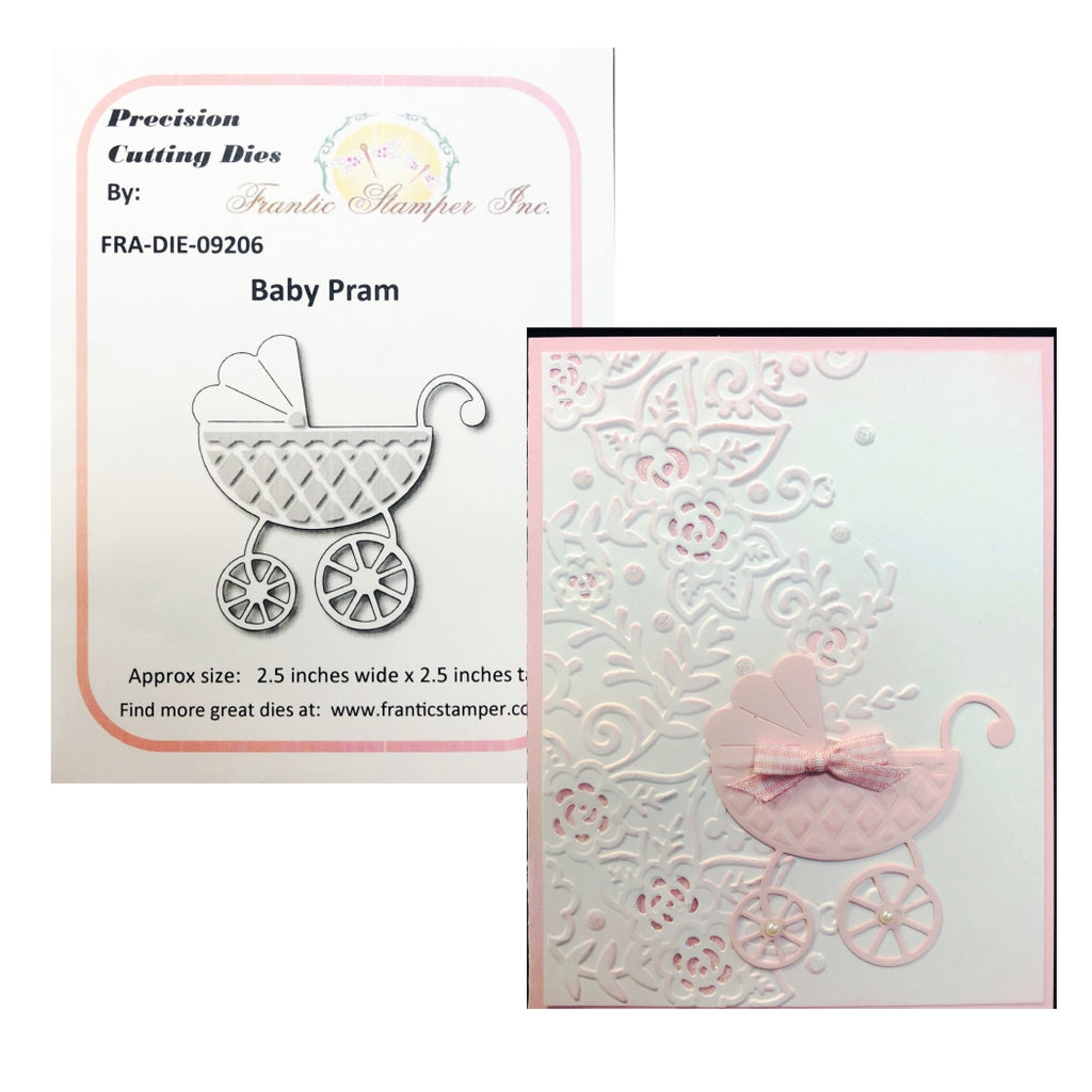 Baby Pram Steel Craft Die by Frantic Stamper FRA-DIE-09206 - Inspiration Station Scrapbook Store & Retreat