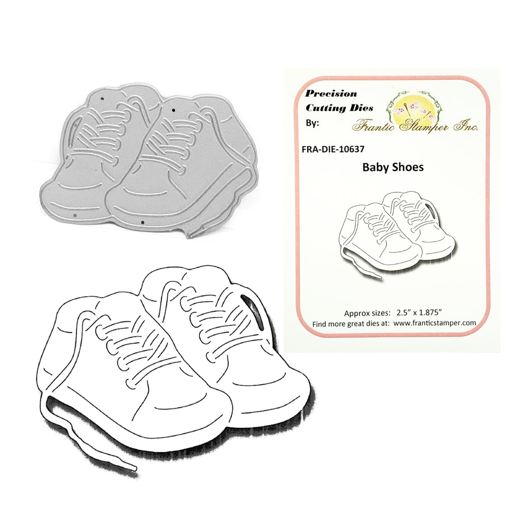Baby Shoes Steel Craft Die by Frantic Stamper FRA-DIE-10637 - Inspiration Station Scrapbook Store & Retreat